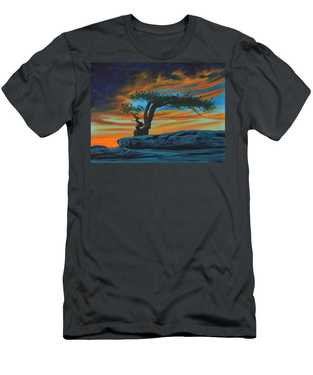 Enchanted Tree Men's T-Shirt (Athletic Fit) featuring the painting Enchanted by Sue Brehm