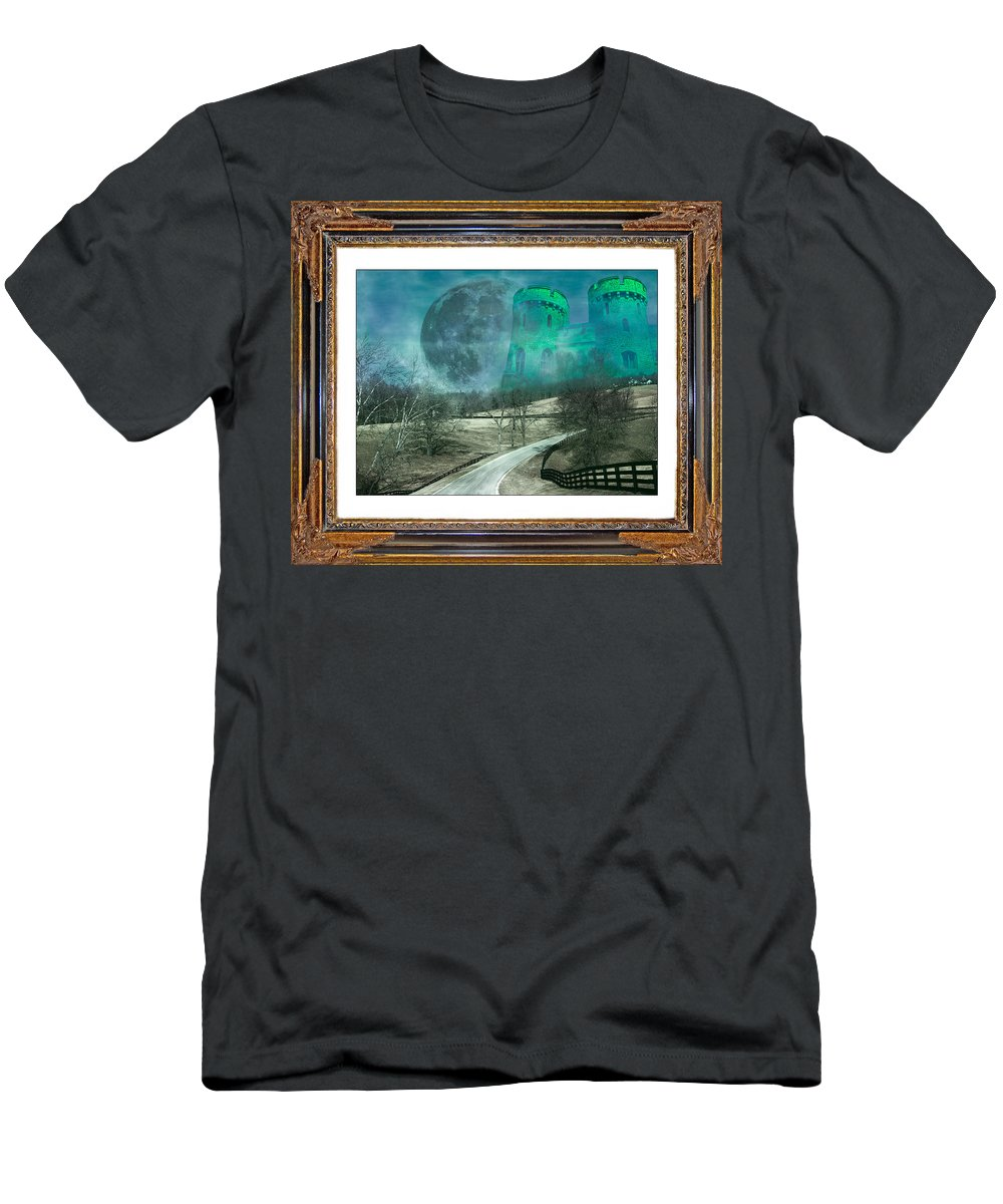 The Men's T-Shirt (Athletic Fit) featuring the mixed media Enchanting Evening With Oz by Betsy Knapp