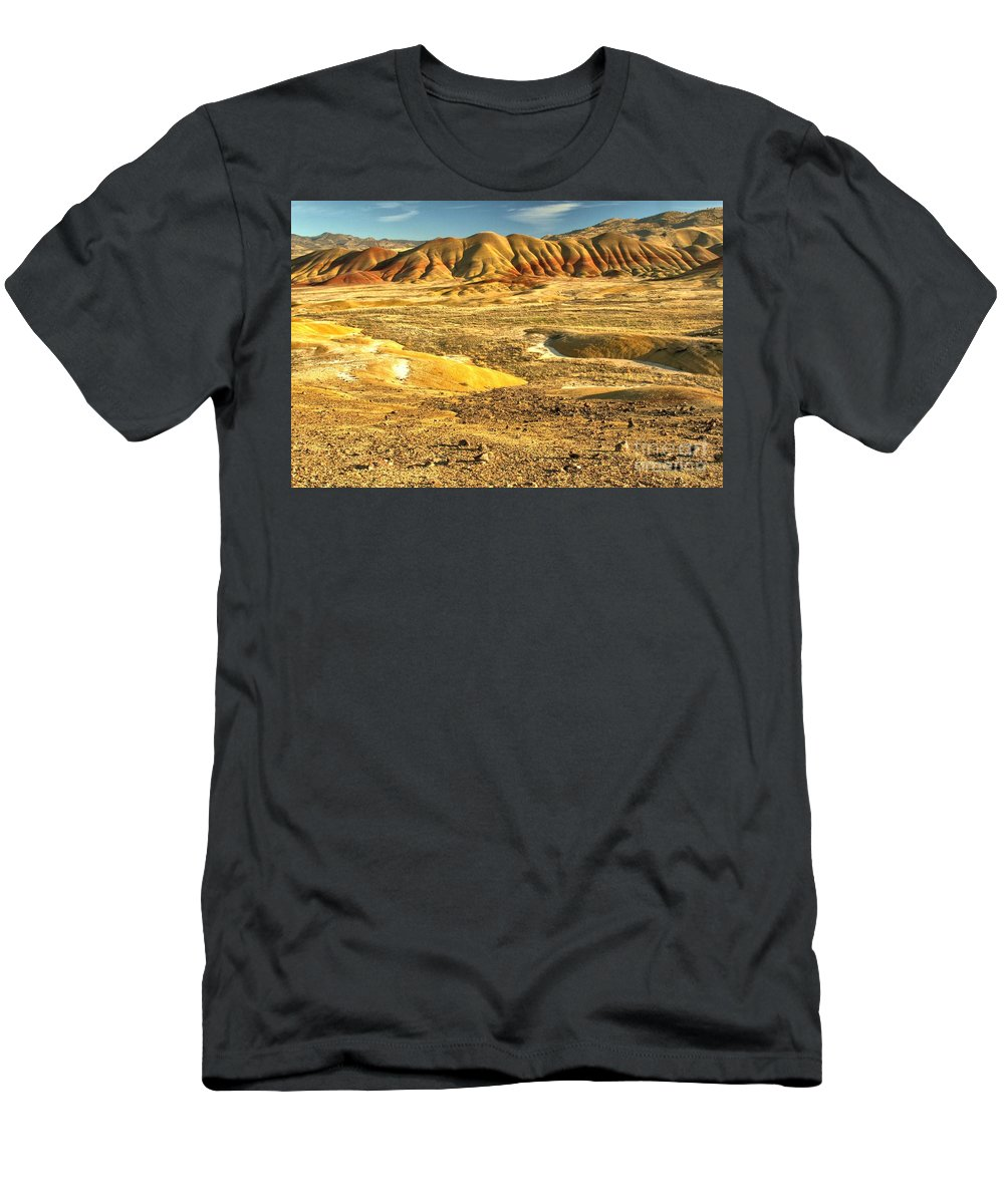 Painted Hills Men's T-Shirt (Athletic Fit) featuring the photograph Endless Painted Hills by Adam Jewell