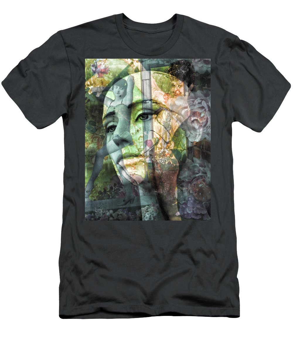 Abstract Men's T-Shirt (Athletic Fit) featuring the photograph Endless Tails And Strengthening Wings by The Artist Project