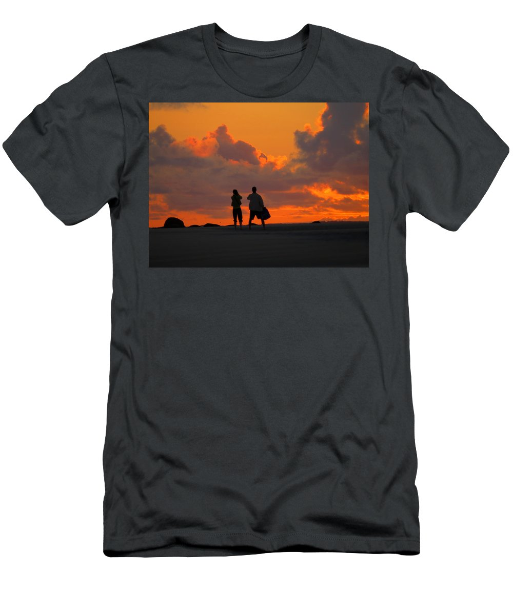 Sunrise Men's T-Shirt (Athletic Fit) featuring the photograph Enjoy The Moment by Dianne Cowen