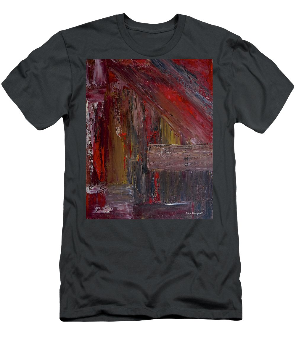 Abstract Men's T-Shirt (Athletic Fit) featuring the painting Entrance by Dick Bourgault