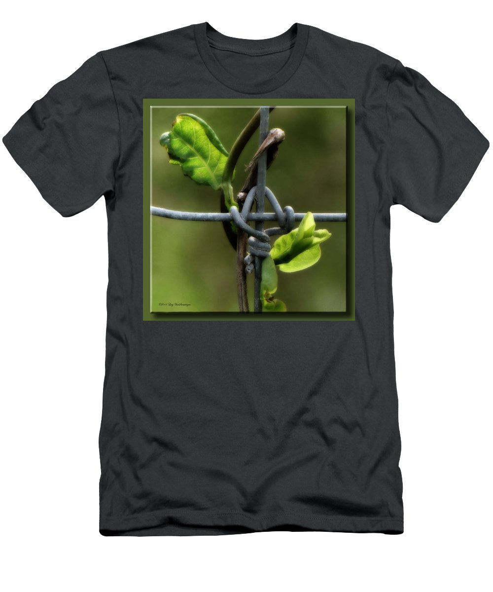 Fence T-Shirt featuring the photograph Entwined by Lucy VanSwearingen