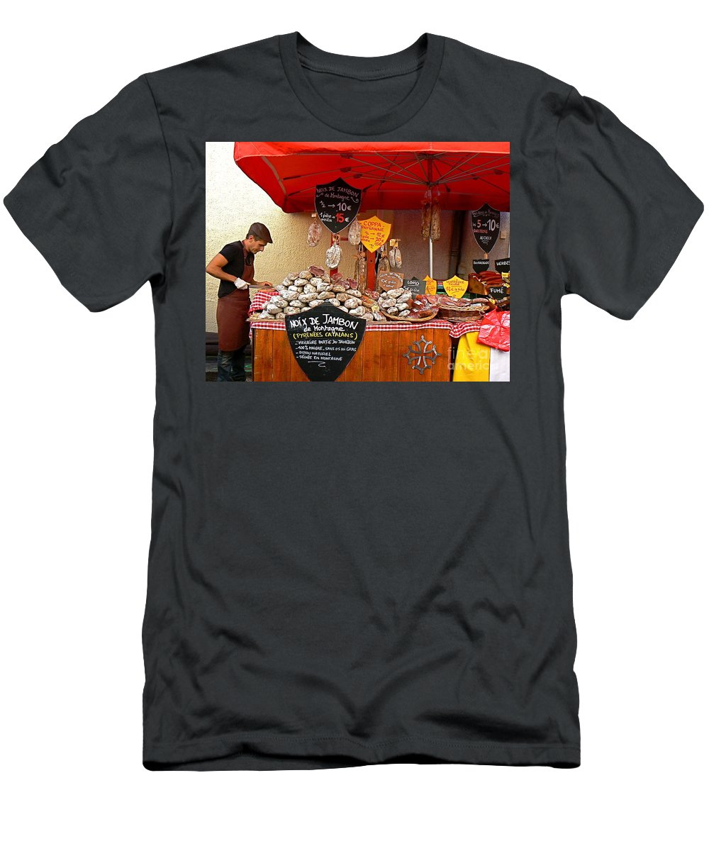 European Men's T-Shirt (Athletic Fit) featuring the photograph A European Butcher by France Art