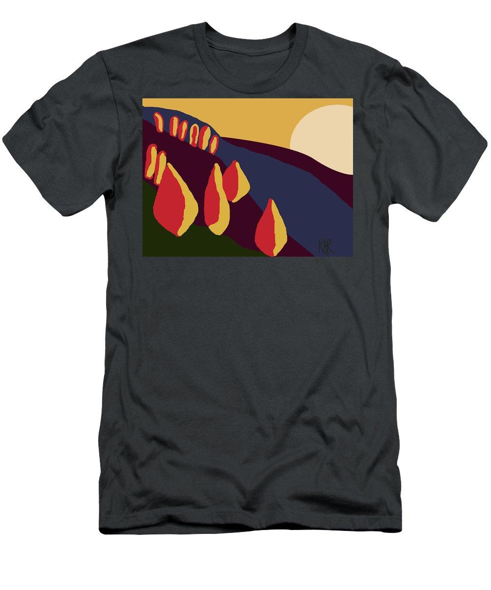 Landscape Men's T-Shirt (Athletic Fit) featuring the digital art European Landscape by Art by Kar