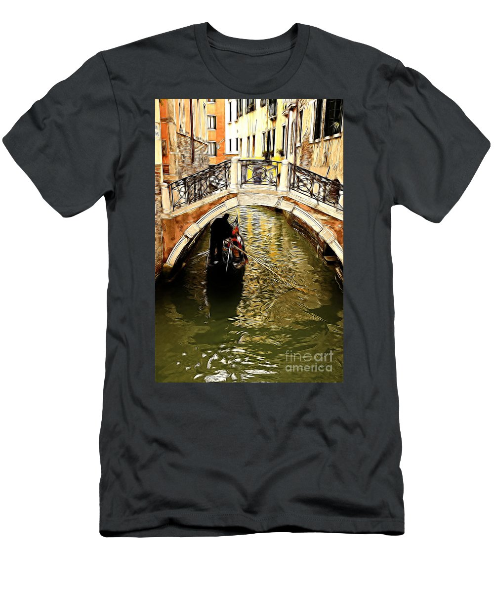 Evanscent Men's T-Shirt (Athletic Fit) featuring the photograph Evanscent - Venice by Sheila Laurens