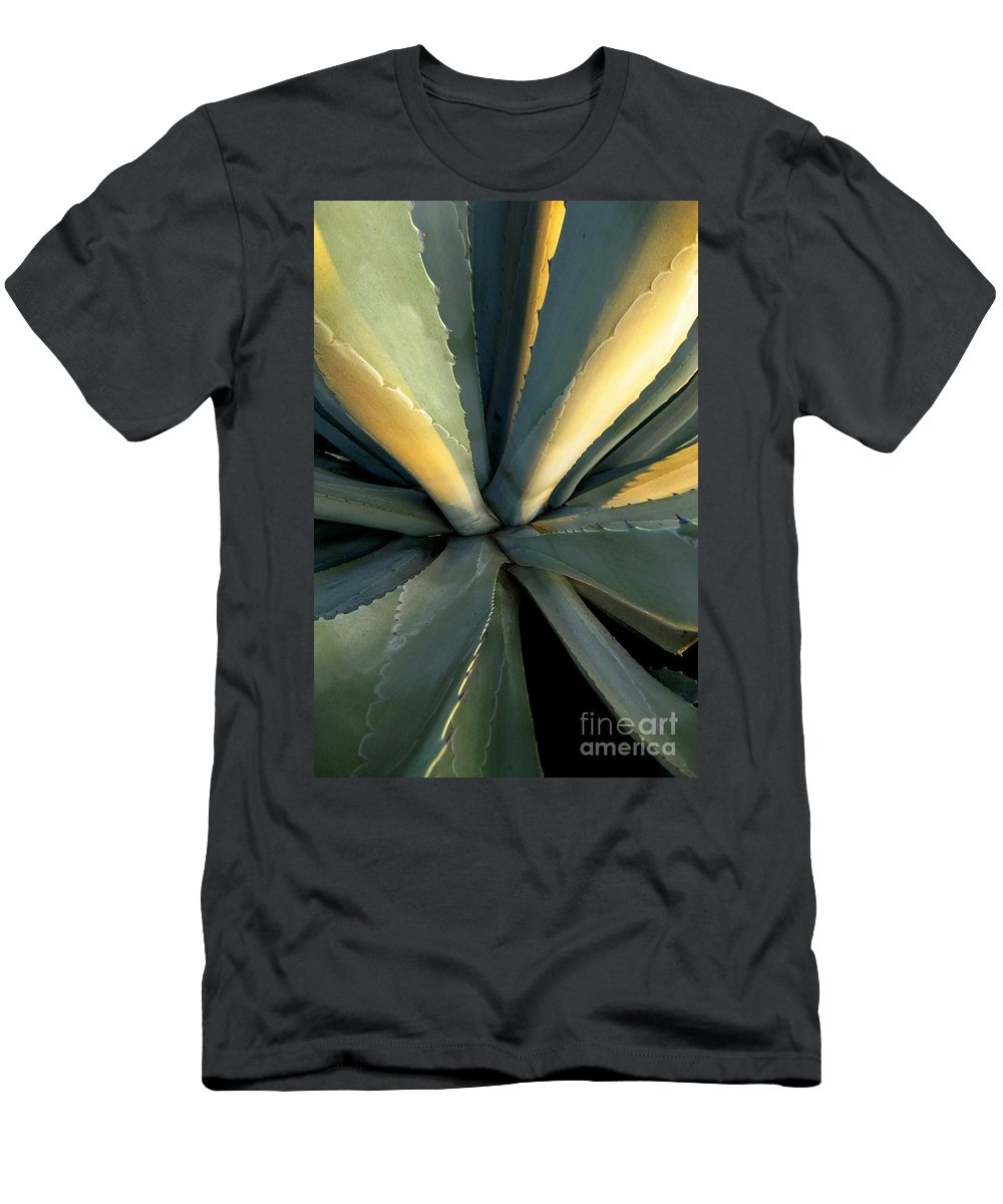 Desert Men's T-Shirt (Athletic Fit) featuring the photograph Evening Agave by Ellen Cotton