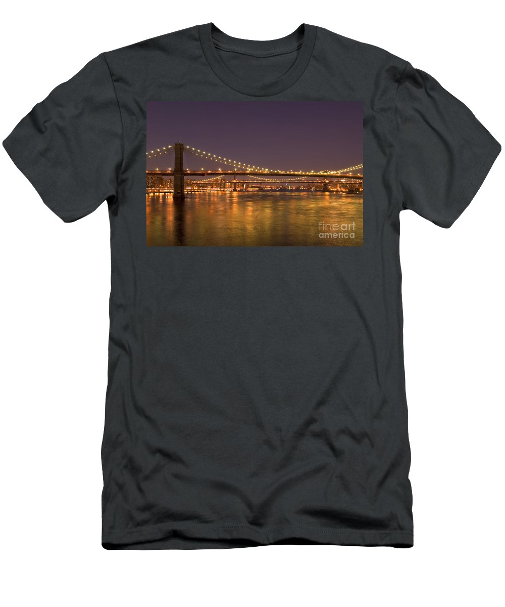 New York City Men's T-Shirt (Athletic Fit) featuring the photograph Evening II New York City Usa by Sabine Jacobs