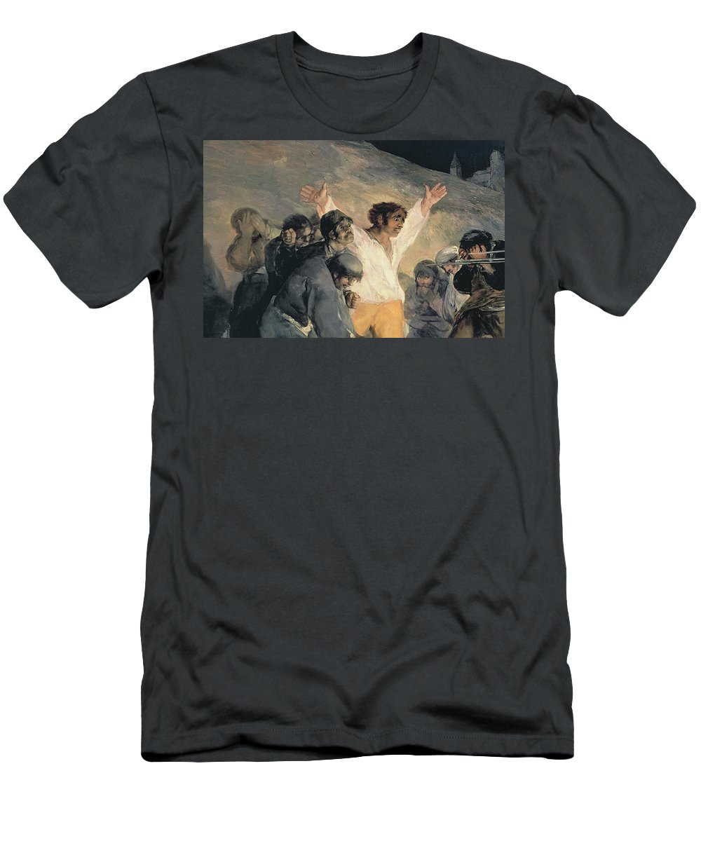 Against Men's T-Shirt (Athletic Fit) featuring the painting Execution Of The Defenders Of Madrid by Francisco Jose de Goya y Lucientes