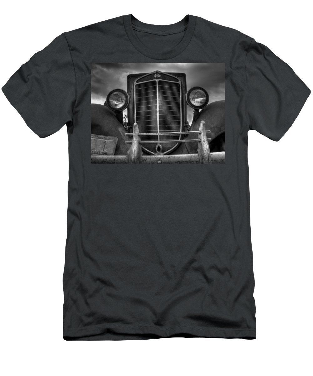 1936 International Truck Men's T-Shirt (Athletic Fit) featuring the photograph Face Of Time by Thomas Young