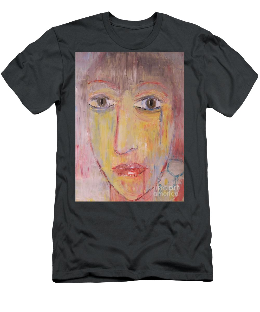 Portrait Men's T-Shirt (Athletic Fit) featuring the painting Faded by Kate Marion Lapierre