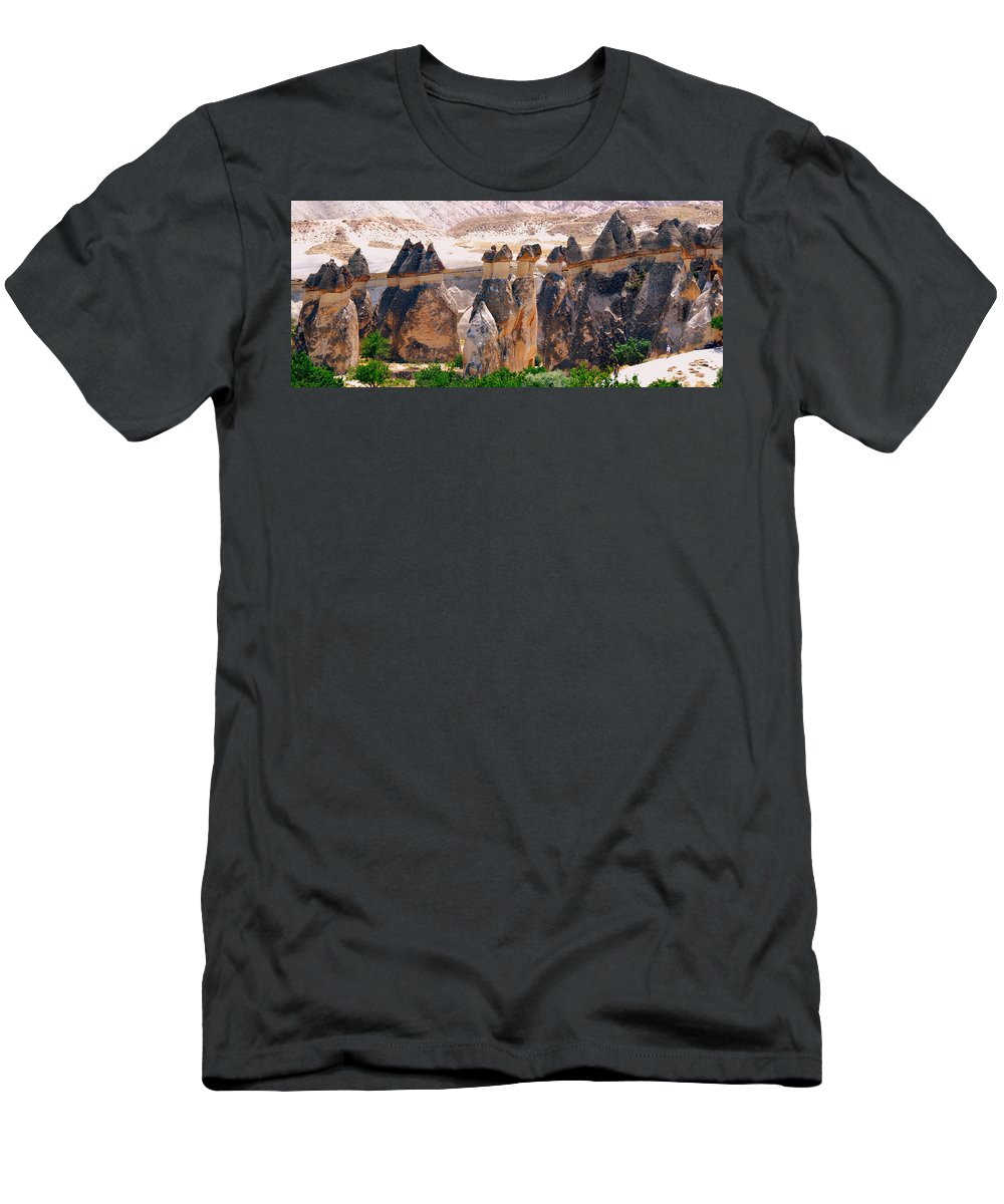 Landscape T-Shirt featuring the photograph Fairy Chimney Panorama by Apurva Madia