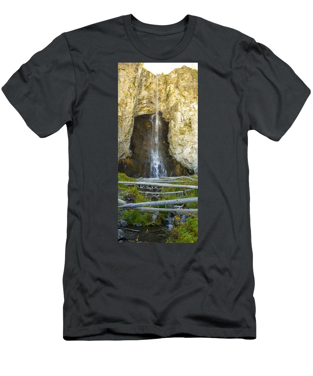 Landscape Men's T-Shirt (Athletic Fit) featuring the photograph Fairy Falls by Crystal Heitzman Renskers