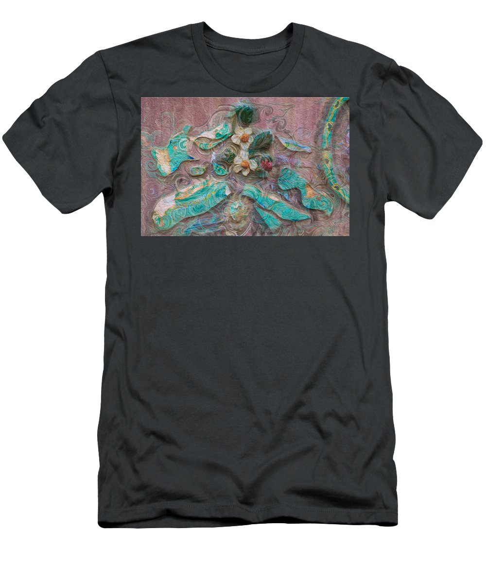 Georgia Okeefe Men's T-Shirt (Athletic Fit) featuring the painting Fairytale Dance by Omaste Witkowski
