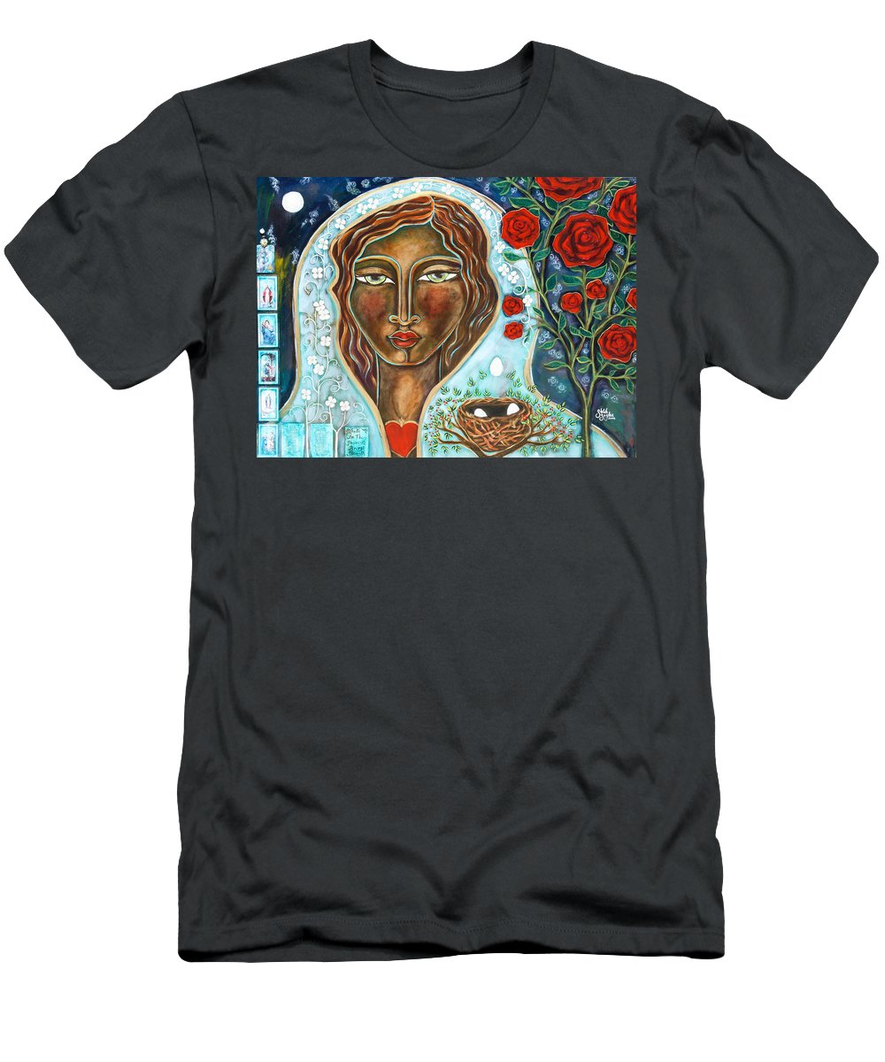 Shiloh Sophia Men's T-Shirt (Athletic Fit) featuring the painting Faith In The Promises by Shiloh Sophia McCloud