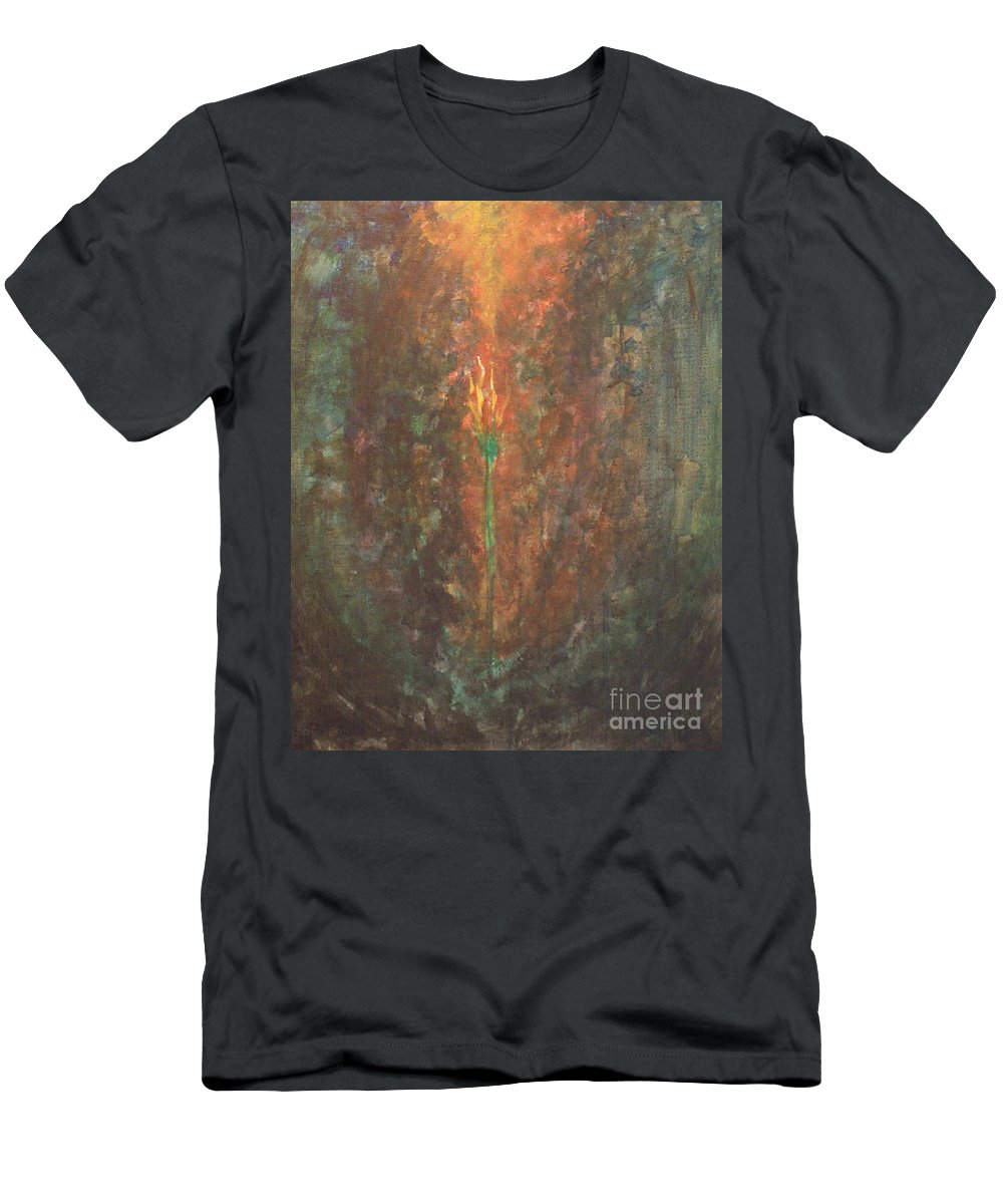 Faith Men's T-Shirt (Athletic Fit) featuring the painting Faith by Sheri Lauren