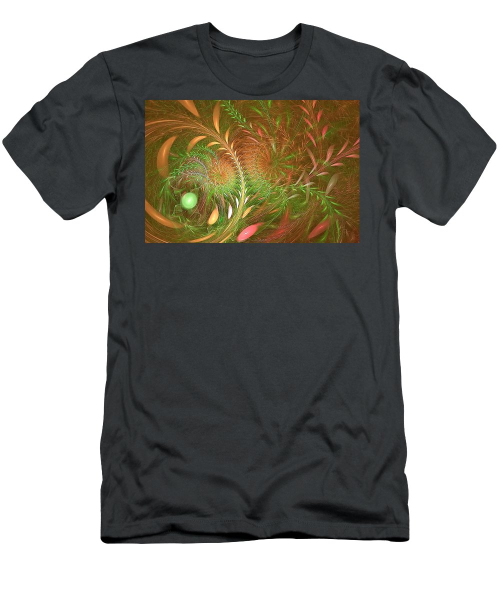 Men's T-Shirt (Athletic Fit) featuring the digital art Fall Fractal Fields by Doug Morgan