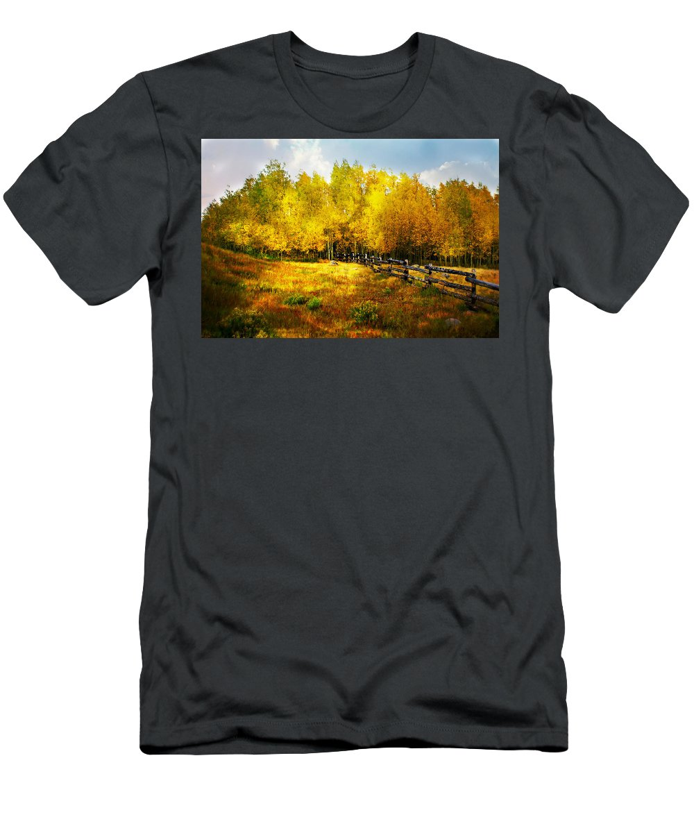 Fall Men's T-Shirt (Athletic Fit) featuring the photograph Fall Near Lake City by Marty Koch