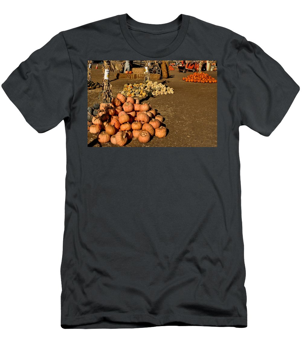 Farmers Men's T-Shirt (Athletic Fit) featuring the photograph Fall Squash by Michael Gordon
