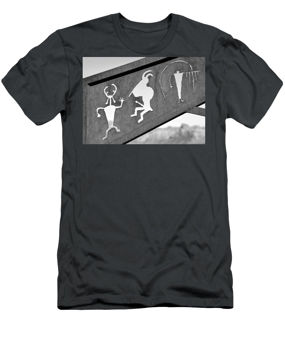 Rock Art Men's T-Shirt (Athletic Fit) featuring the photograph Famous Rock Art by David Lee Thompson