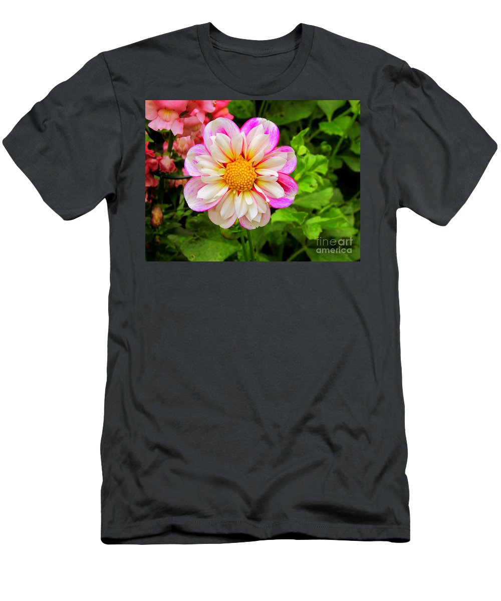 Flowers Men's T-Shirt (Athletic Fit) featuring the photograph Fancy by Elizabeth Dow