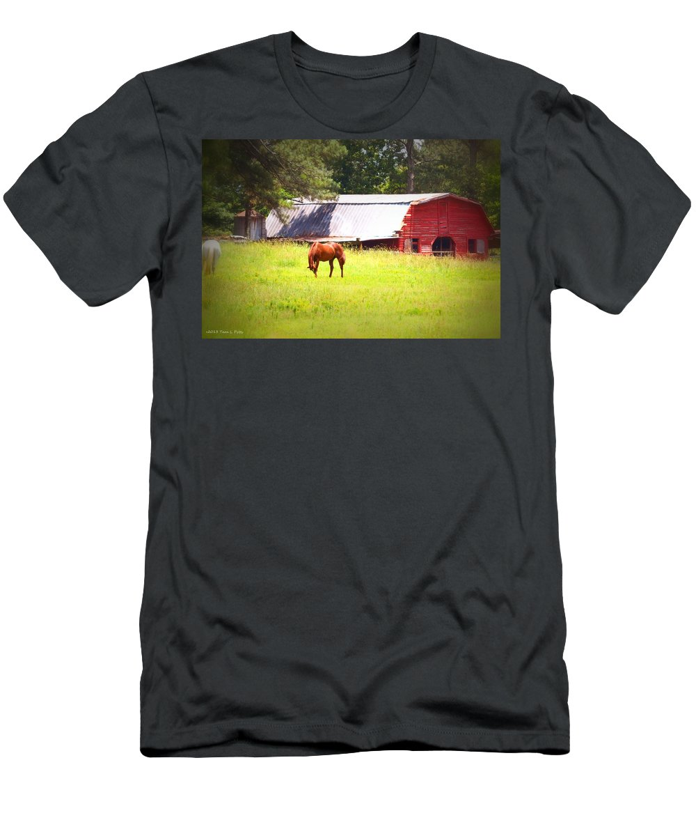 Barn Men's T-Shirt (Athletic Fit) featuring the photograph Farm Life by Tara Potts