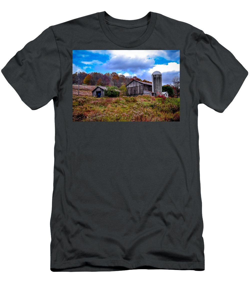Men's T-Shirt (Athletic Fit) featuring the photograph Farm by Michael Brooks