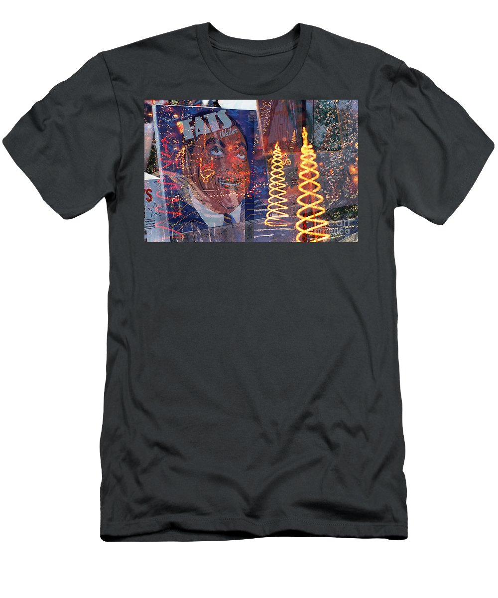 Christmas Lights Men's T-Shirt (Athletic Fit) featuring the photograph Fats' Watercolor Frenzy by Rosie McCobb