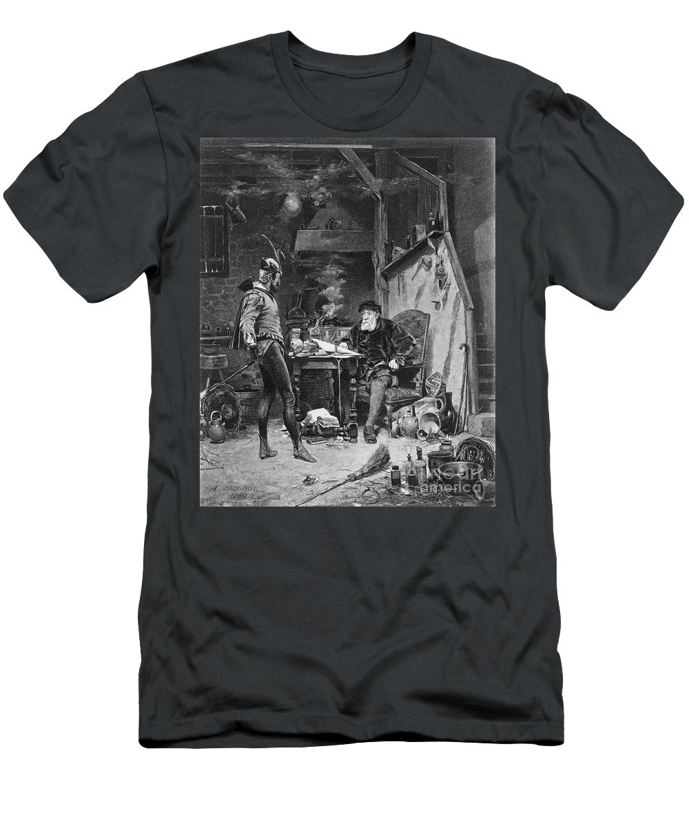 Alfred Men's T-Shirt (Athletic Fit) featuring the photograph Faust And Mephistopheles by Granger