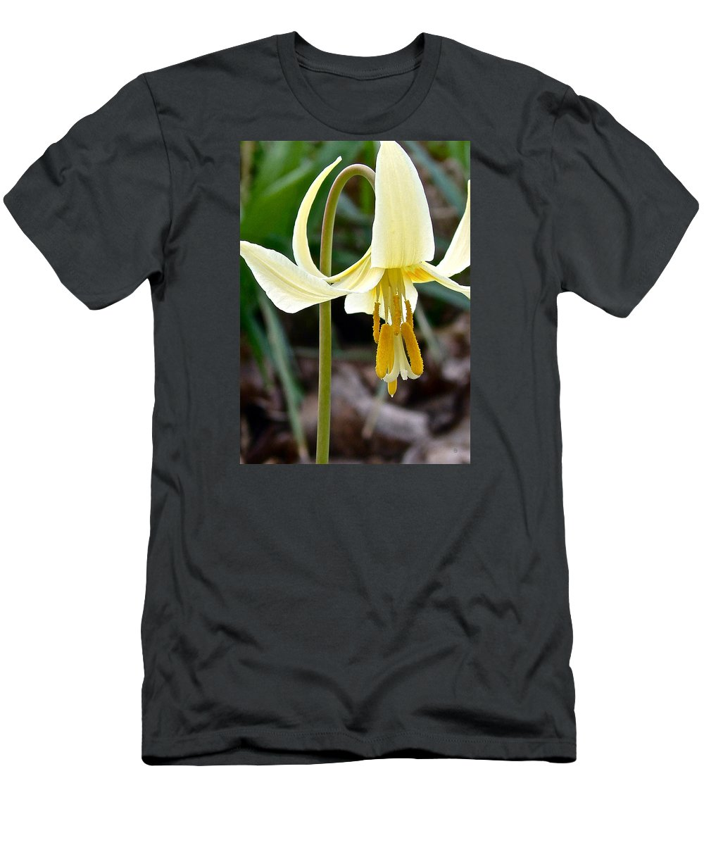 Fawn Lily Men's T-Shirt (Athletic Fit) featuring the digital art Fawn Lily by Gary Olsen-Hasek