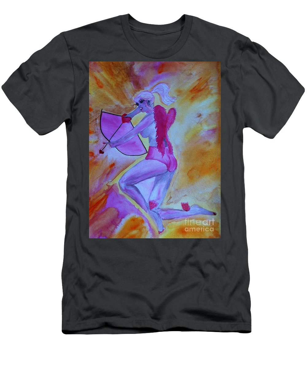 February Men's T-Shirt (Athletic Fit) featuring the drawing February by Melissa Darnell Glowacki