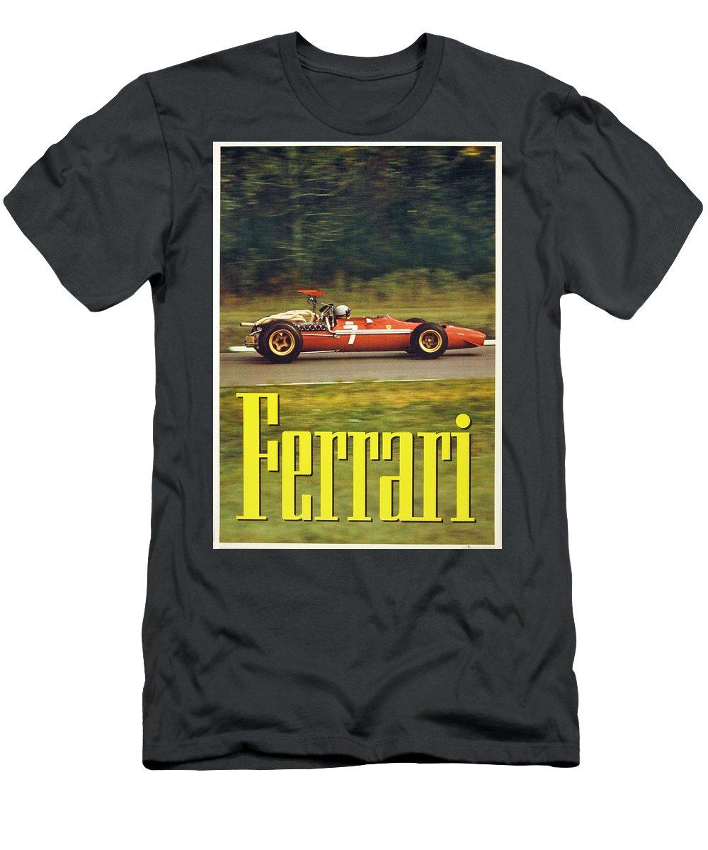 Ferrari Men's T-Shirt (Athletic Fit) featuring the digital art Ferrari by Georgia Fowler