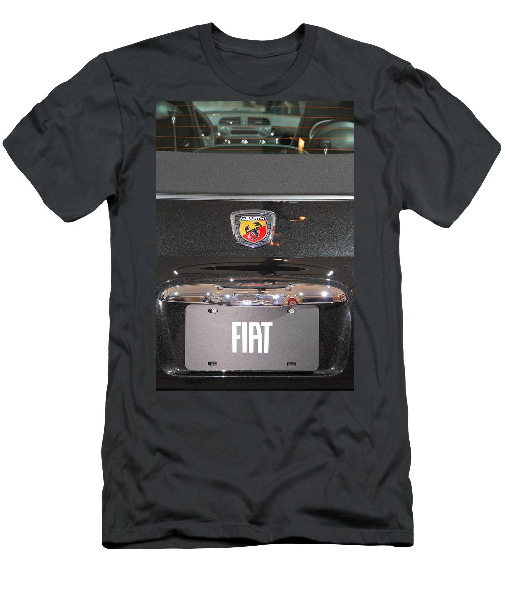 500 Men's T-Shirt (Athletic Fit) featuring the photograph Fiat 500 Abarth by Valentino Visentini