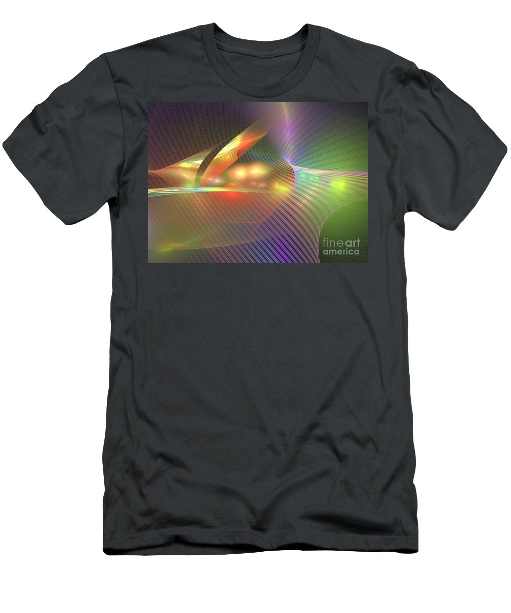 Apophysis Men's T-Shirt (Athletic Fit) featuring the digital art Fin by Kim Sy Ok