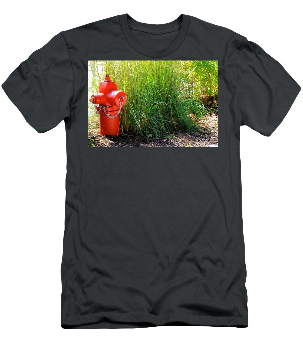Nature Men's T-Shirt (Athletic Fit) featuring the photograph Fire Hydrant by Debbie Nobile