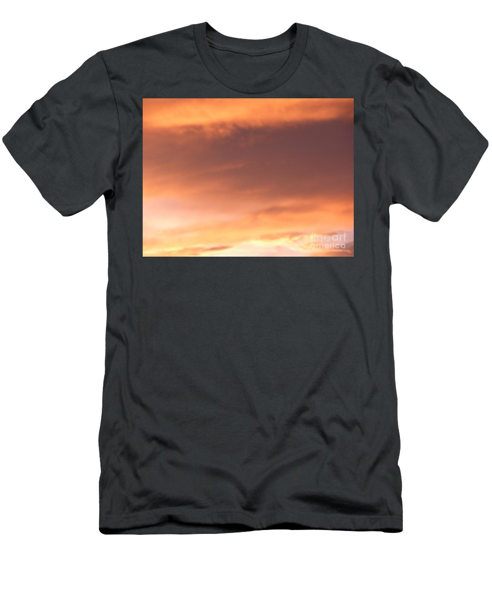Dramatic Sky Men's T-Shirt (Athletic Fit) featuring the photograph Fire Skyline by Joseph Baril