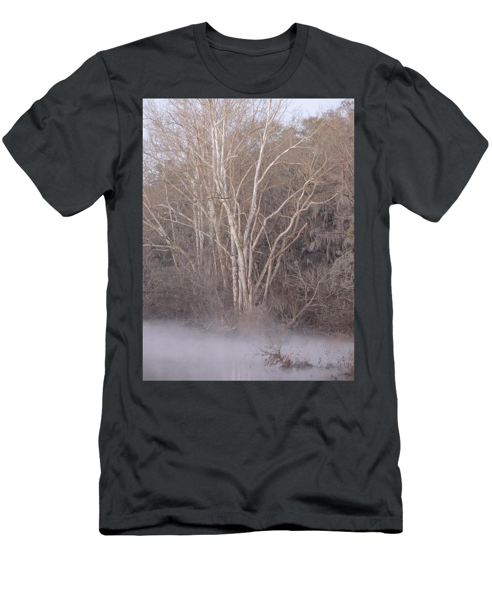 Digital Photo Men's T-Shirt (Athletic Fit) featuring the photograph Flint River 9 by Kim Pate