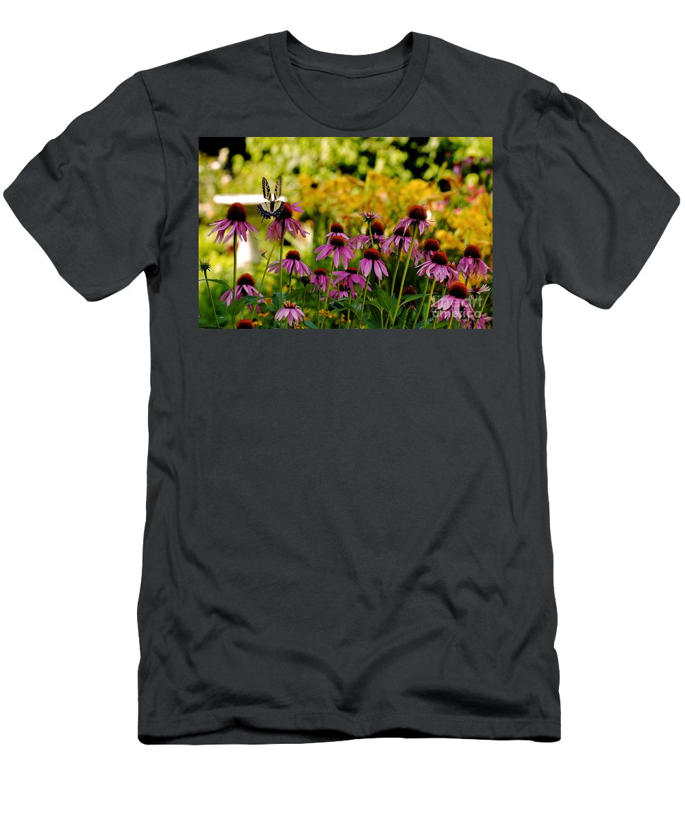 Butterfly Men's T-Shirt (Athletic Fit) featuring the photograph Float Like A Butterfly by Lois Bryan