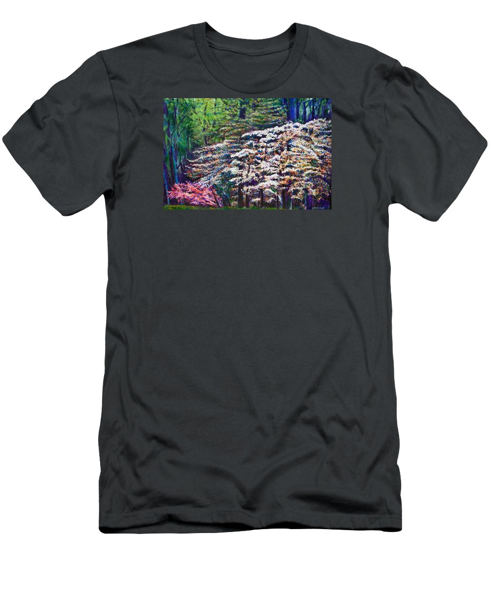 Landscape Men's T-Shirt (Athletic Fit) featuring the painting Floral Cathedral by Michael Durst