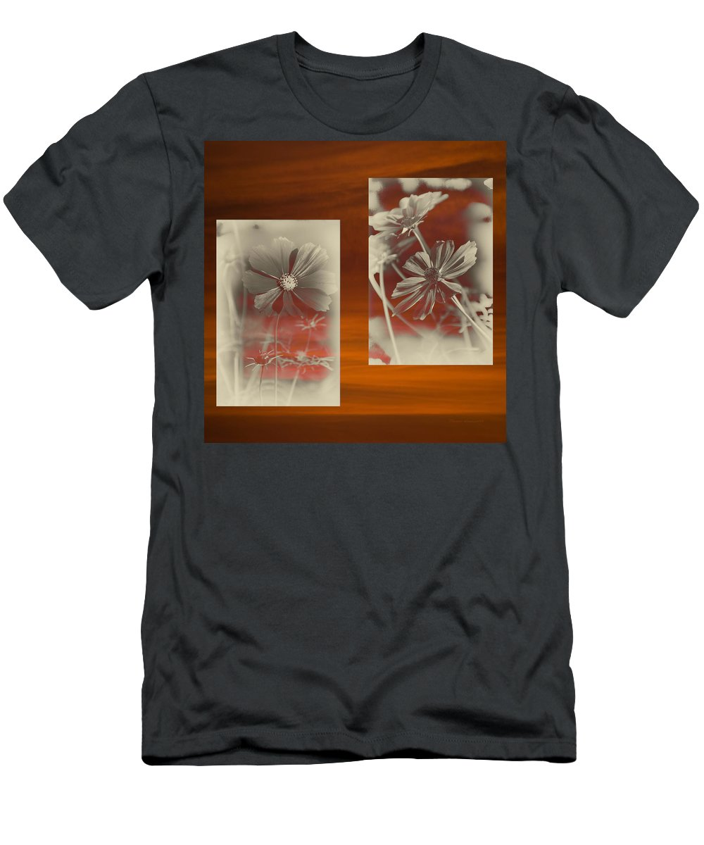Floral Men's T-Shirt (Athletic Fit) featuring the photograph Floral Early Garden Light 07 by Thomas Woolworth