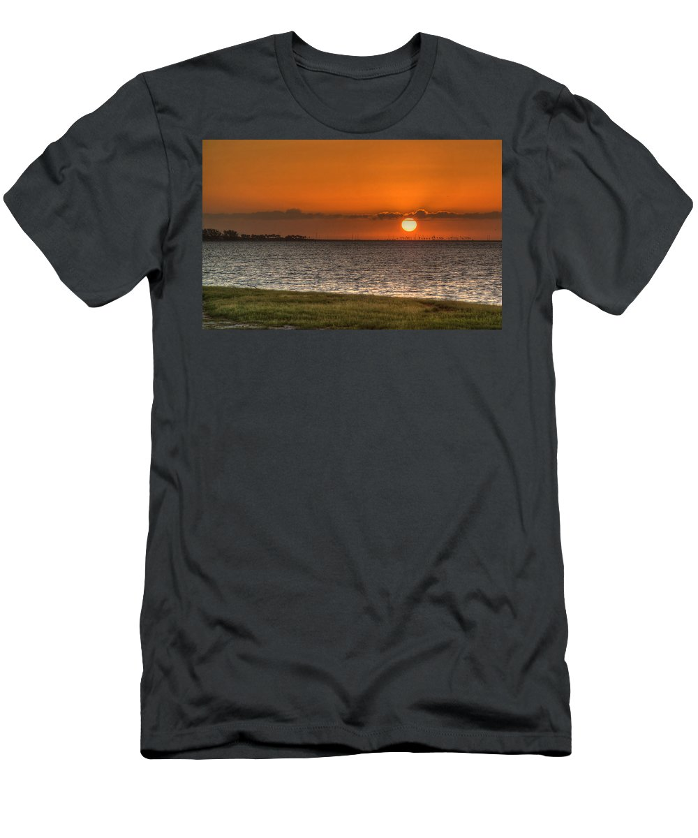 Florida Men's T-Shirt (Athletic Fit) featuring the photograph Florida Sunrise by Jane Luxton