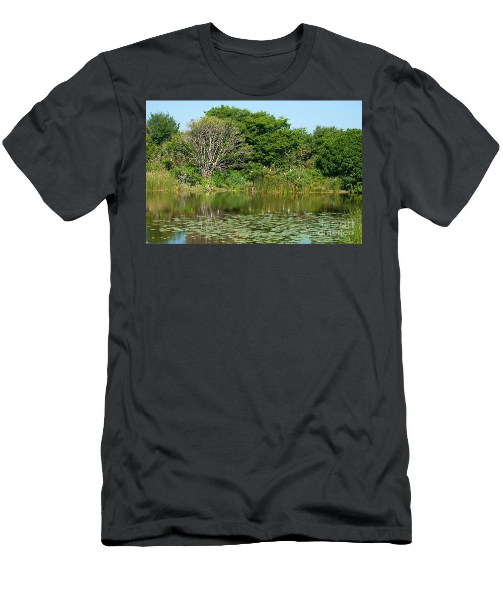 Florida Men's T-Shirt (Athletic Fit) featuring the photograph Florida Wetlands by Photos By Cassandra