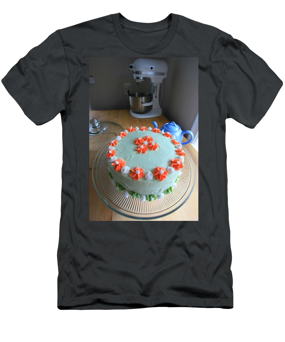 Food Men's T-Shirt (Athletic Fit) featuring the photograph Flour And Flower by Amanda Stadther