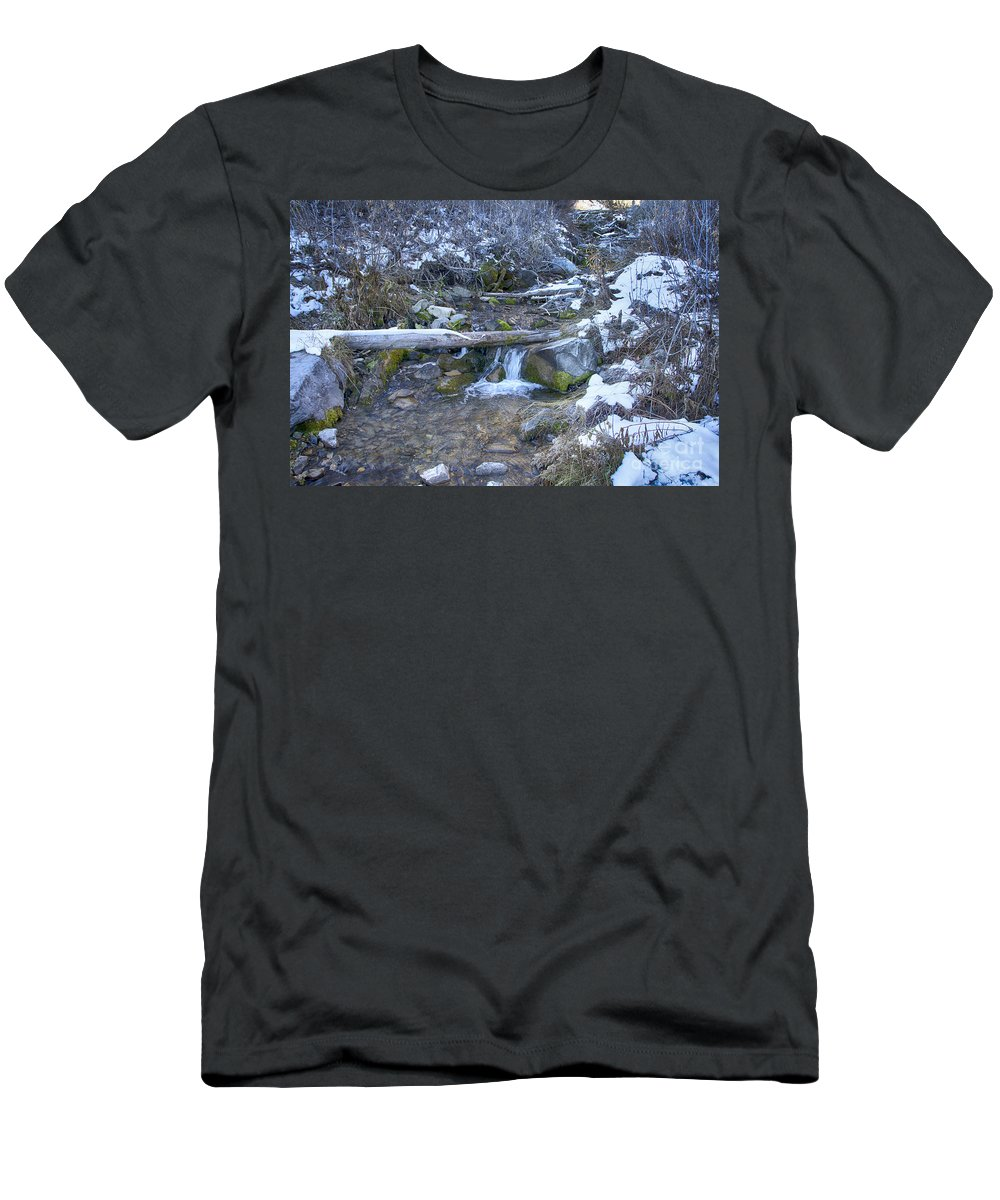 Ice Men's T-Shirt (Athletic Fit) featuring the photograph Flow V18 by Douglas Barnard