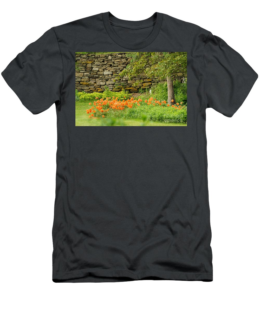 Backyard Gardens Men's T-Shirt (Athletic Fit) featuring the photograph Flower Garden by Jeffery L Bowers