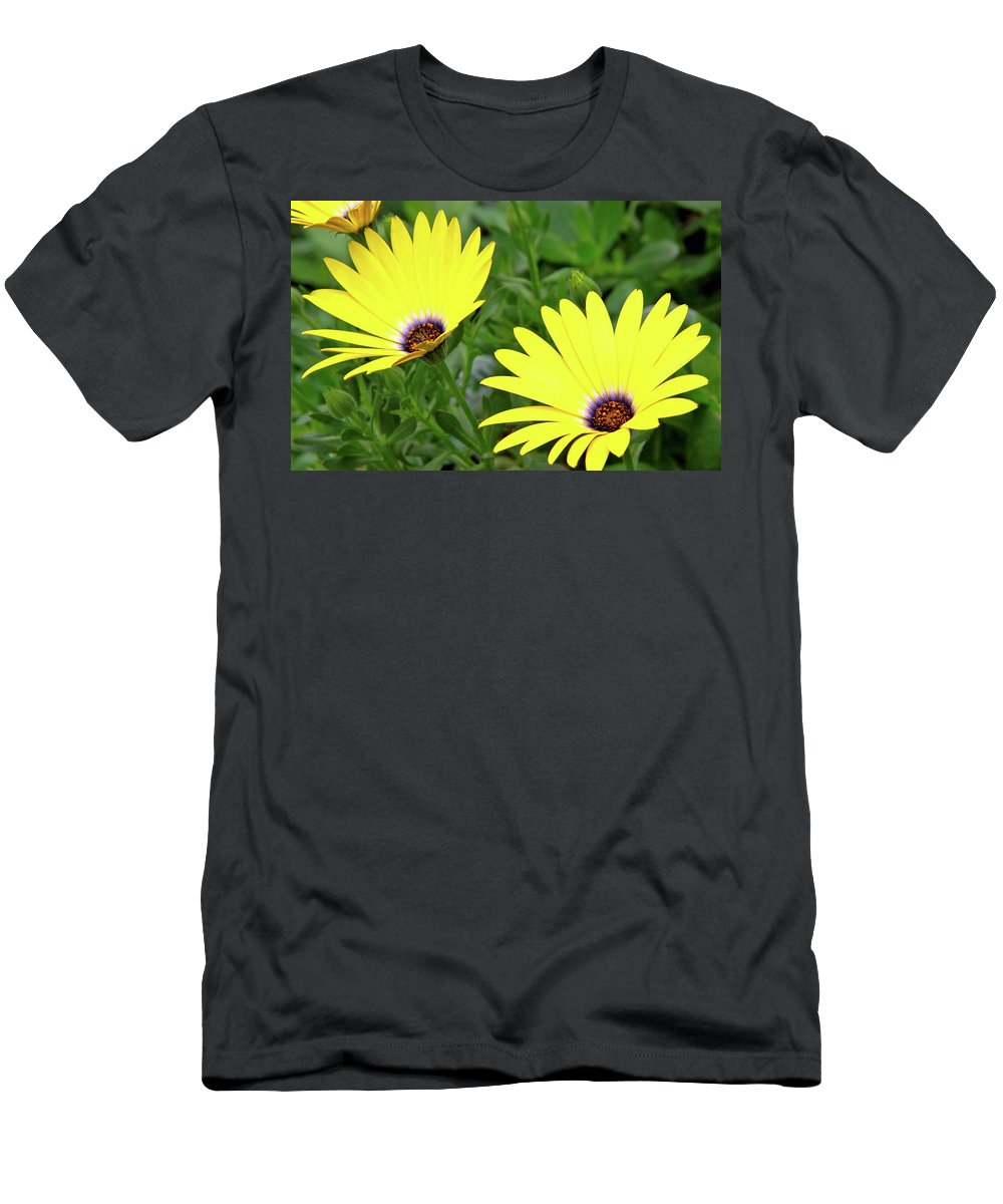 Garden Flowers Men's T-Shirt (Athletic Fit) featuring the photograph Flower Power by Ed Riche