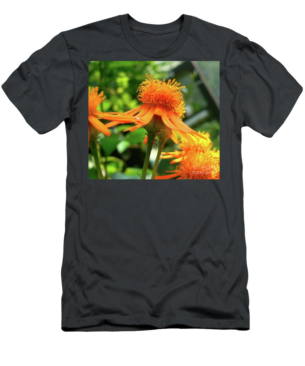 Flower Men's T-Shirt (Athletic Fit) featuring the photograph Flower Top by Angela Wright