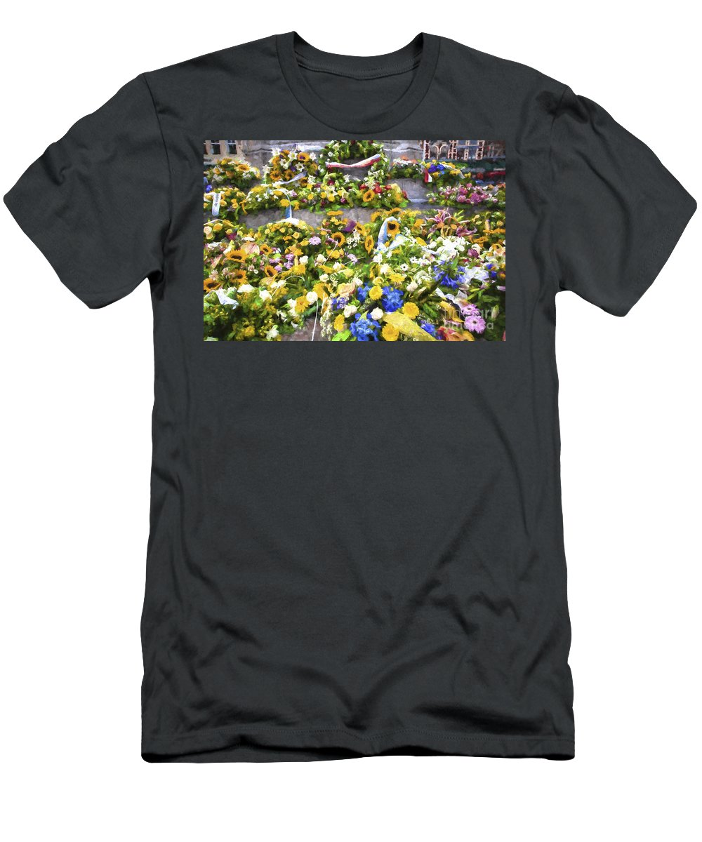 Brugge T-Shirt featuring the photograph Flowers in Brugge by Sheila Smart Fine Art Photography