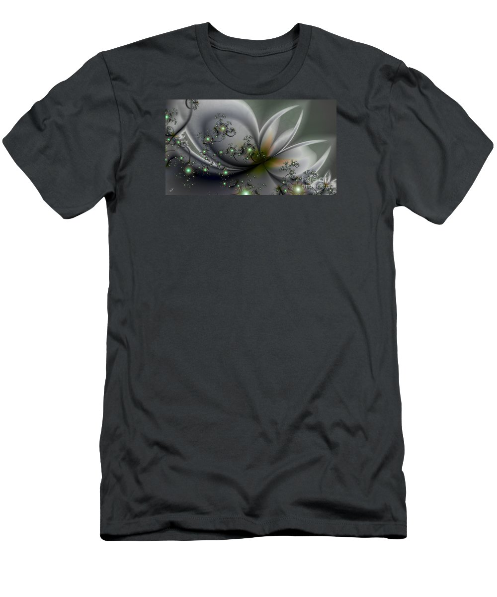 Flutterby Men's T-Shirt (Athletic Fit) featuring the digital art Flutterby by Kimberly Hansen