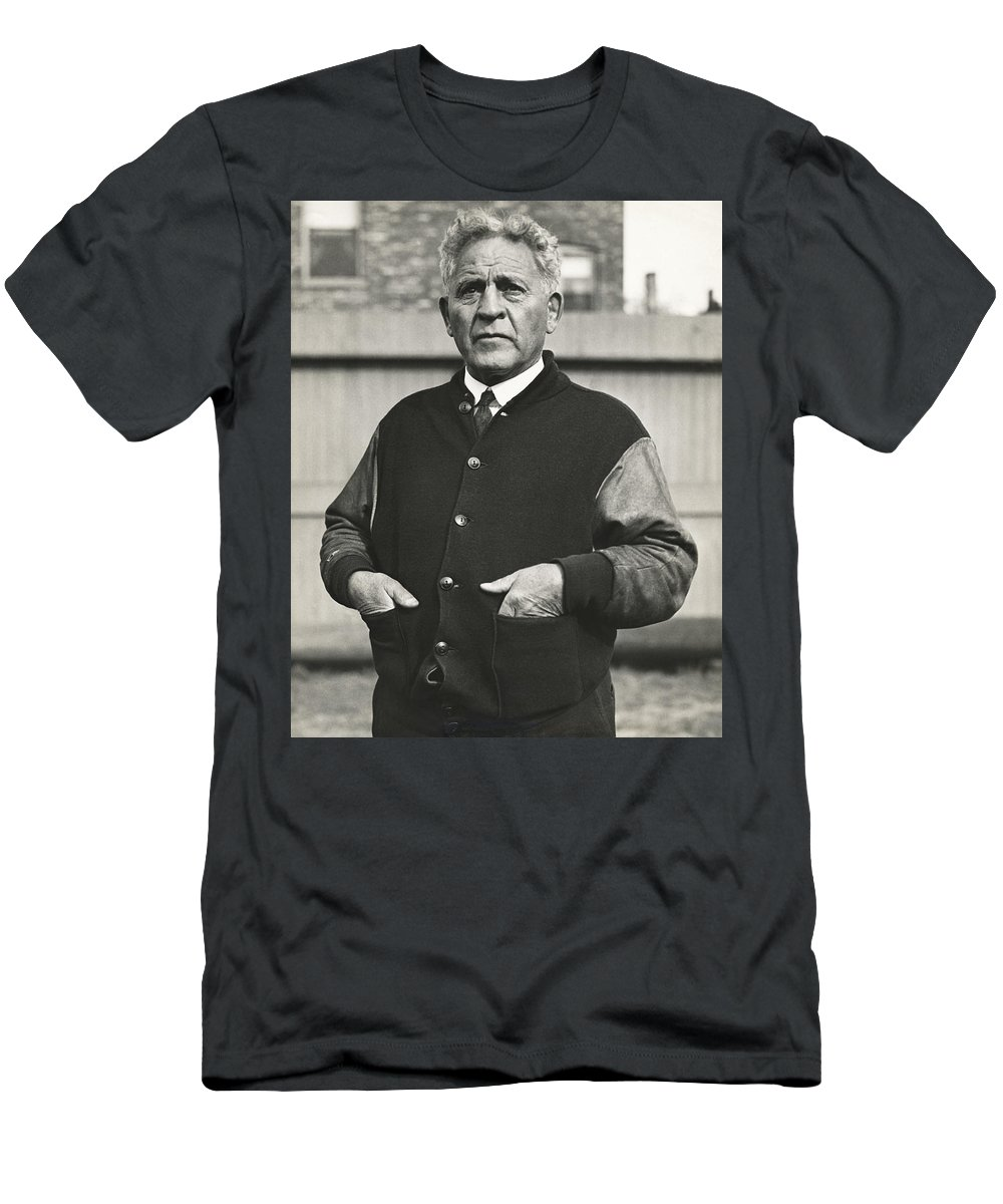 1 Person Men's T-Shirt (Athletic Fit) featuring the photograph Football Coach Alonzo Stagg by Underwood Archives